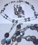 Necklace: Labradorite, crystal, steel by LissaMonster
