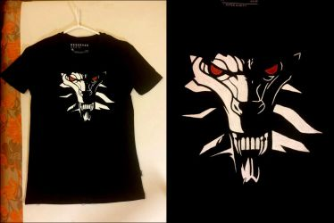 The Witcher - hand-painted t-shirt by MagiaWody07