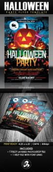 Halloween Party Flyer Template by AnotherBcreation