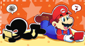 Mario and Mr. GnW 2DS and 3DS by Domestic-hedgehog