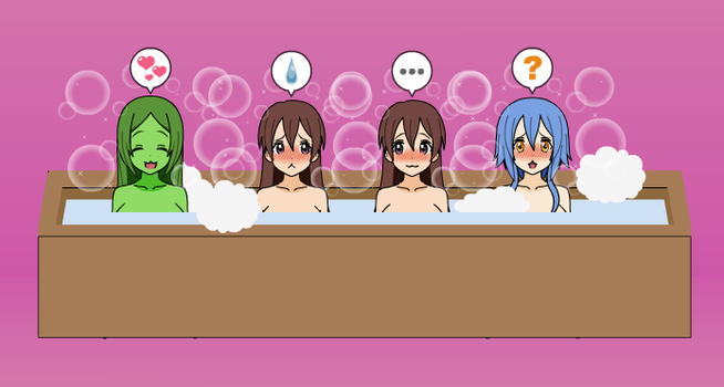 me and my friends in a hot tub :3 by andr-the-enderwoman