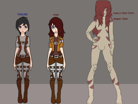 New Attack On Titan Ocs by cool103