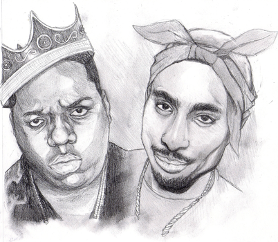 Biggie and Tupac by monkeydonuts246