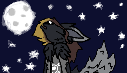 howling at the moon(RQ) by elementals12