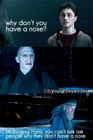 Harry Potter - Voldemorts nose by cassidysmith15