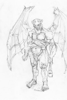 Demon Beastman mutant with extra arms xD by Zulden