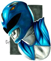 Mighty Morphin' Power Rangers - Blue Ranger by ovictorrodrigues