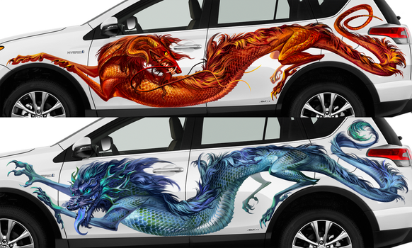 Fire and Ice car design by Alaiaorax
