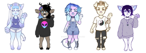 Whole lot of adopts (CLOSED) by Grimmchu