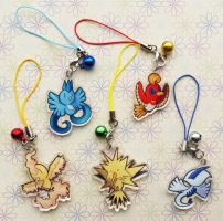 Charms legendary birds pokemon
