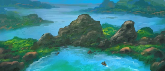 Commission: Carthographers - Islands concept by VincentiusMatthew