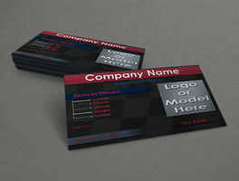 Business Card Sample Mock up by Clone-D