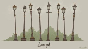 Lamp posts props by wavenwater