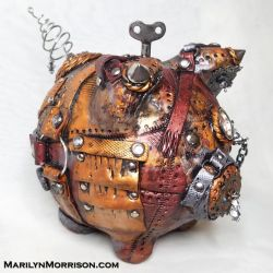 Steampunk Pig by MarilynMorrison