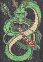 COMM: Copic Shenron by brytlejuice