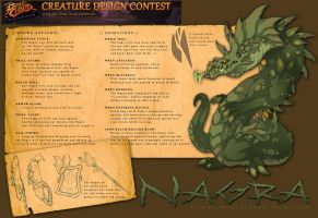 Battle Chasers: Nightwar Creature Design - Nagra by StrayaObscura