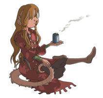 Dungeons and Dragons: Maruphis and her Evening Tea by Tabascofanatikerin