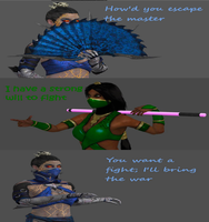Kitana VS Jade by Cold-Clux