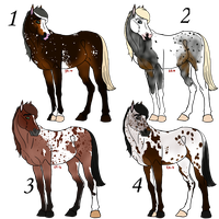 paypal adoptable horses set1 * Closed by purrsain