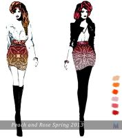 Rose and Peach (Spring theme) 2013 by Marsha-Veliguro