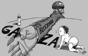 Israeli Blockade of Gaza by Latuff2