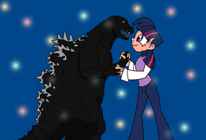 Twilight and Godzilla No matter the difference by dominator2001