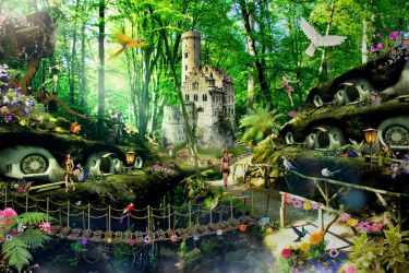 FANTASY FOREST by scifilicious