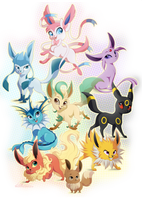Eeveelutions by DVixie