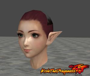 Gracia Head Base- Pointy ears by KishiTheDragoness95