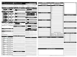 Dungeons and Dragons charecter sheet by janlukky