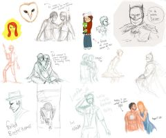 OH LORD A MASSIVE SKETCHDUMP by firestar21