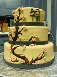 cherry blossom wedding cake by KatsumiShiokawa