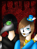 The BirdMan and The Candy Skull by Pinkwolfly