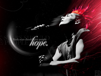 Gerard Way Wallpaper-Quote O3 by FeeDouce