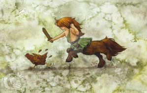 Wild Child - Tiny William Wallace by saraquarelle