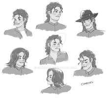 MJ sketches by Charenel