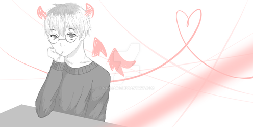 Haise Sasaki (Tokyo Ghoul:re) Sketch ver. by Nazliarc