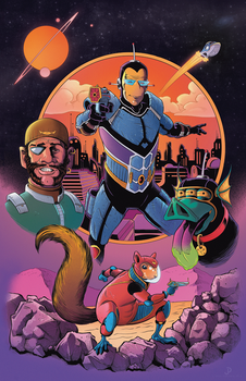 Spaceman and Bloater Poster COLOR by JPipe