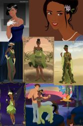 The Many Faces of Tiana by ZeldaQueen64