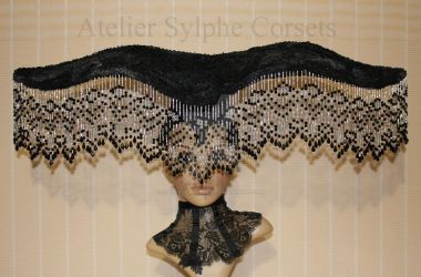 Tribute hat in black for photo session by AtelierSylpheCorsets