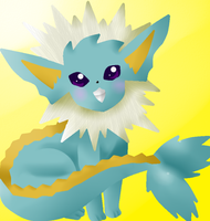 Vaporeonxjolteon Fusion by theshadowpony357