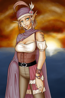 Elven Pirate by TheCatlady
