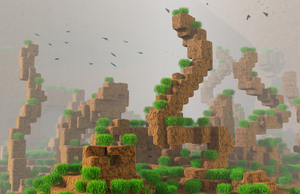 Zbrush Doodle: Day 1177 - Foggy blocky gameland by UnexpectedToy