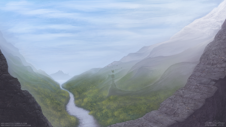 Mountain's Wall by ABluSkittle
