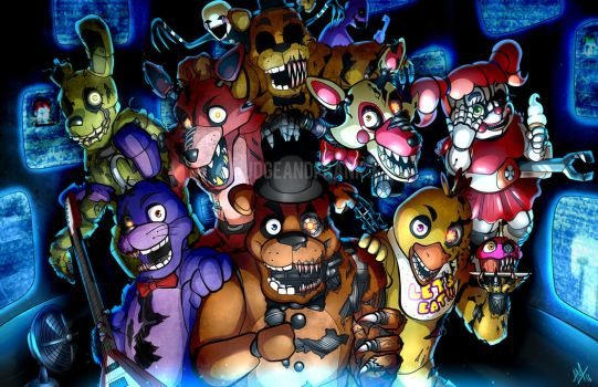 Five Nights At Freddy's by Smudgeandfrank