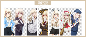 Anime Render Pack Prisma Illya by galangcp