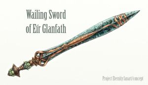 Wailing sword of Eir Glanfath by Merlkir