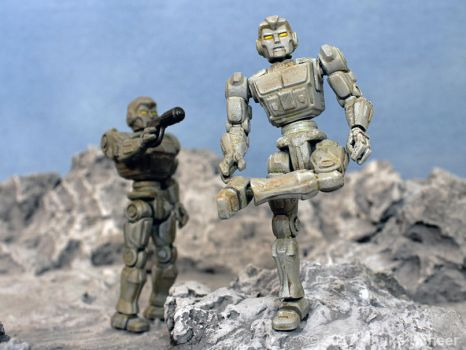 3D printed robot action figure 3 3/4 J by hauke3000