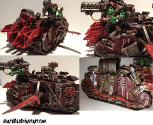 Looted ork tank transport thingy by Gnatsies
