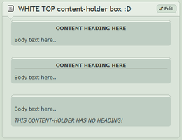 WHITE TOP content-holder box by CypherVisor
